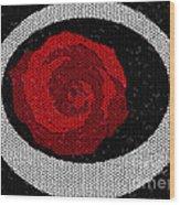 Fancy Rose Wood Print