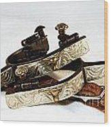 Fancy Silver Spurs Wood Print