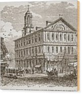 Faneuil Hall, Boston, Which Webster Wood Print