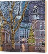 Faneuil Hall Holiday Wood Print