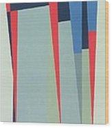 Fanfare, 1974 Acrylic On Gouache And Pencil Wood Print