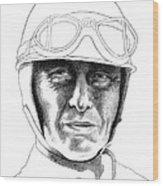 Fangio Wood Print by Diane Fine