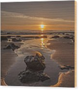 Fanore Beach Wood Print