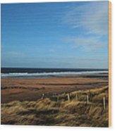 Fanore Beach Wood Print by Peter Skelton