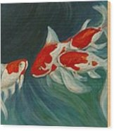Fantail Koi Wood Print