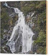 Fantail Waterfalls Wood Print
