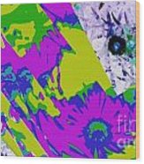 Fantasi Violaflori Wood Print by Halina Nechyporuk