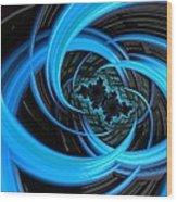 Fantasia Azul Wood Print