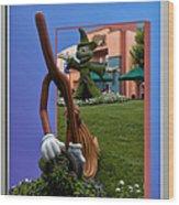 Fantasia Mickey And Broom Floral Walt Disney World Hollywood Studios Wood Print