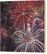 Fantastic Fireworks Wood Print