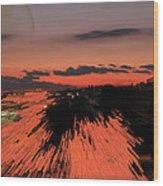 Fantastic Space Sunset Wood Print