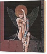 Fantasy Angel Wood Print