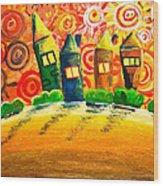 Fantasy Art - The Village Festival Wood Print
