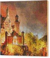 Fantasy Castle Wood Print