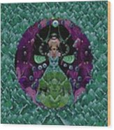 Fantasy Cat Fairy Lady On A Date With Yoda. Wood Print