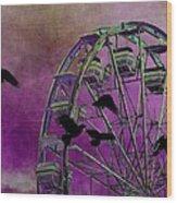 Fantasy Ferris-wheel Wood Print