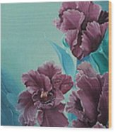 Fantasy Floral Wood Print