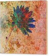 Fantasy Flower Wood Print