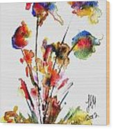 Fantasy Flowers 2 Wood Print