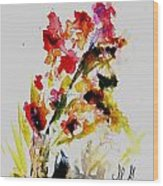 Fantasy Flowers 3 Wood Print