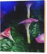 Fantasy Flowers Embossed Hp Wood Print