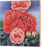 Fantasy Flowers Wood Print by Janis  Tafoya