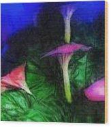 Fantasy Flowers Lux Wood Print