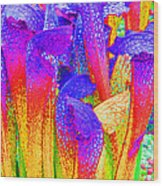 Fantasy Flowers Wood Print