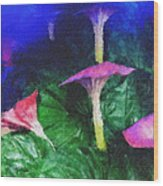 Fantasy Flowers Pastel Chalk 2 Wood Print