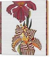 Fantasy Iris July 2013 Wood Print