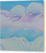 Fantasy Snowscape Wood Print