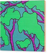 Fantasy Trees Wood Print