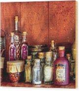 Fantasy - Wizard's Ingredients Wood Print by Mike Savad