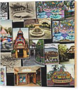 Fantasyland Disneyland Collage Wood Print