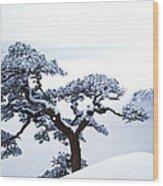 Fare-well Pine Tree Wood Print