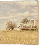 Farm And Fields  Wood Print