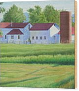 Farm At Willow Creek Wood Print