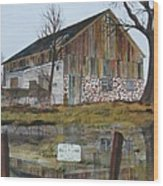 Farm Auction Wood Print