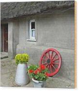 Farm Cottage Wood Print