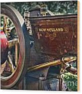 Farm Equipment - New Holland Feed And Cob Mill Wood Print by Paul Ward