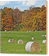 Farm Fresh Hay Wood Print