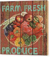 Farm Fresh Produce Wood Print