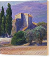 Farm House In Provence Wood Print