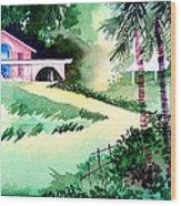 Farm House New Wood Print by Anil Nene