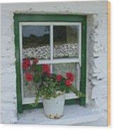 Farm House Window Wood Print