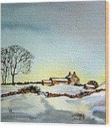 Farm In N.e Yorkshire Wood Print