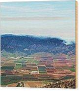 Farm Land Wood Print