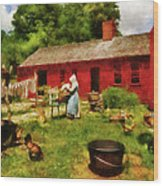 Farm - Laundry - Old School Laundry Wood Print