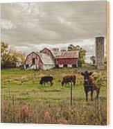 Farm Living Wood Print