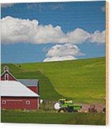Farm Machinery Wood Print by Inge Johnsson